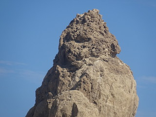 Un visage sur Trona Pinnacles