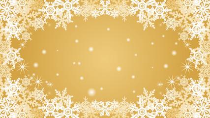 Snowflake frame - golden color