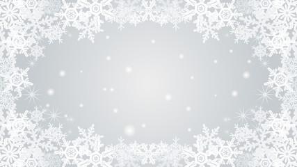 Snowflake frame -silver