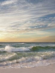 Wall Mural - Wave Break on Florida Beach as the Sun Rises