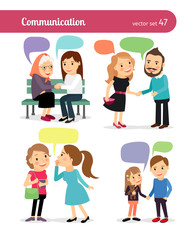 People with speech bubbles. Vector illustration
