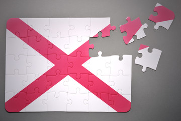 puzzle with the flag of alabama state