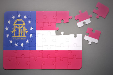 puzzle with the flag of georgia state
