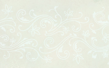 white floral background, white flowers on ivory or beige background, beautiful wedding background design, hand drawn lacy border with curves and lines in faint detail pattern