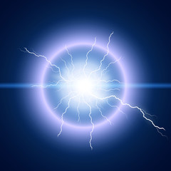 Bright lightning flash