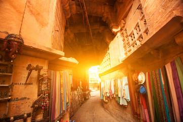 Jaisalmer fort shopping street