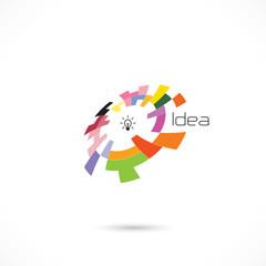 Creative circle abstract vector logo design template. Corporate