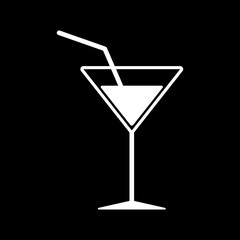 The cocktail icon. Drink and party, alcohol symbol. Flat