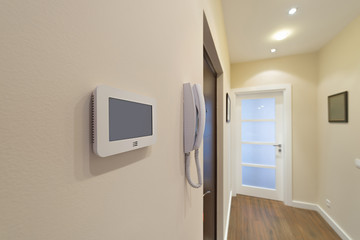Video intercom display near the entrance door
