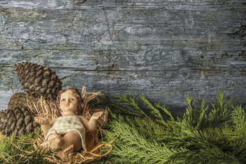 Baby Jesus Christmas background