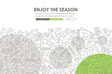 autumn Doodle Website Template Design