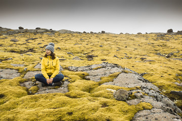Surrounded by Icelandic moss