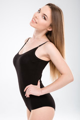 Portrait of attractive confident slim young woman