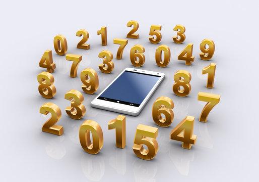 数字とスマートフォン