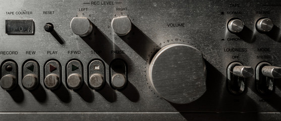 shade and shadow of old volume controls.