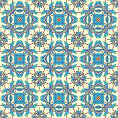 Italian traditional ornament, Mediterranean seamless pattern, tile design, vector illustration