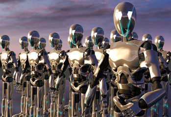 Robot android army