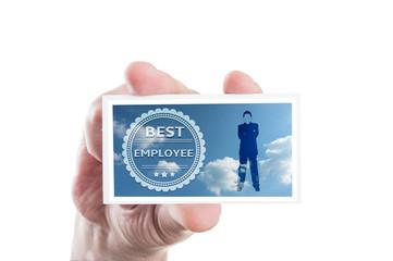 Best employee card concept