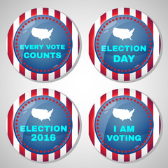 Usa Presidential Election Campaign Badges