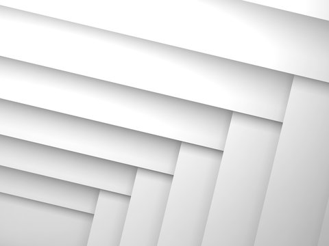 Abstract geometric background with white layers