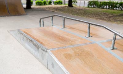 close up of ramp at city skatepark