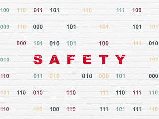Safety concept: Safety on wall background