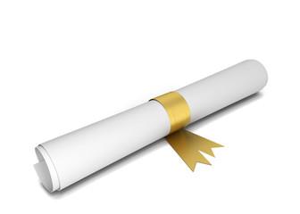 Paper diploma