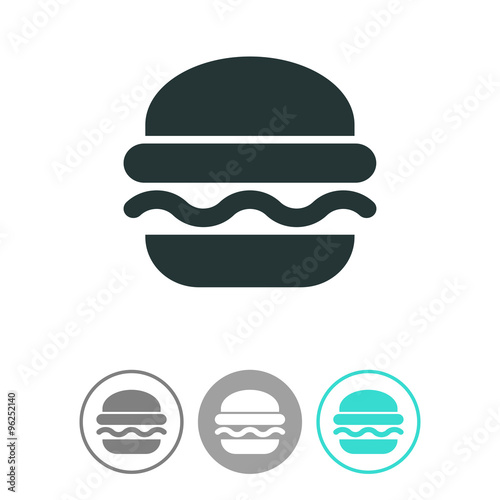 Burger vector icon  Fast food symbol  Junk food