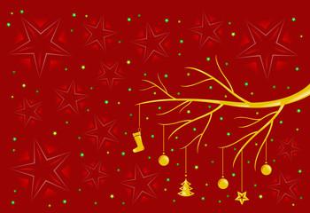 cartolina stelle natalizie