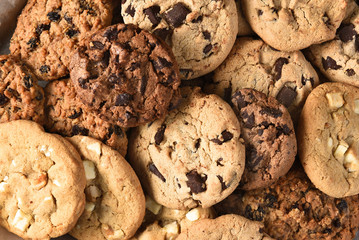 Deurstickers Dessert Assorted Cookie Closeup