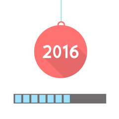 2016 Loading. Progress bar design. Vector illustration.