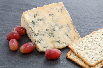 Photo: Mature Blue Stilton cheese and crackers - a favourite Christmas ...