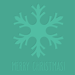 Letterpress snowflake and Merry Christmas