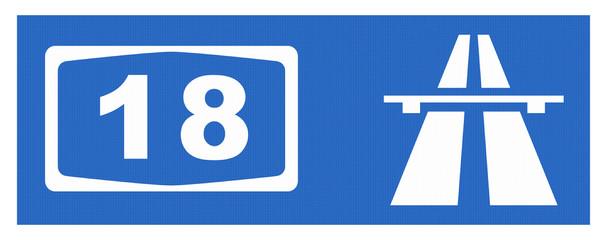 A18-Symbol mit Reflektierung