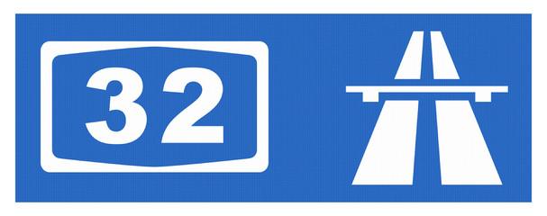 A32-Symbol mit Reflektierung