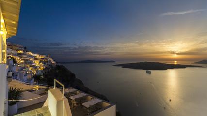 Santorini Tag Nacht Komposition