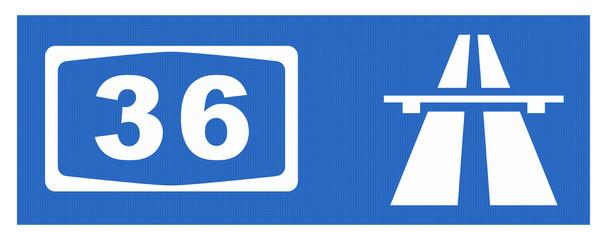 A36-Symbol mit Reflektierung