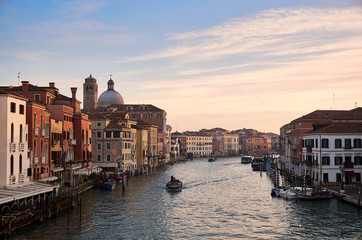 Venice Canal Grande in the morning