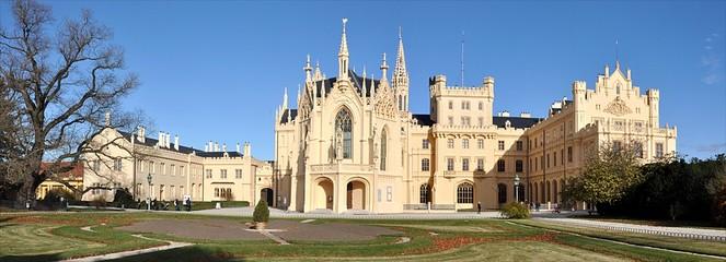 Fotobehang Kasteel beautiful castle Lednice, Czech Republic, Europe