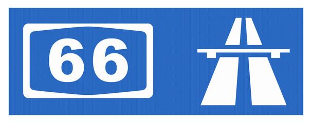 A 66-Symbol mit Reflektierung