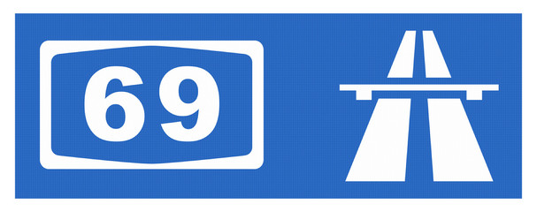 A 69-Symbol mit Reflektierung