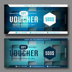 Modern gift voucher cubes