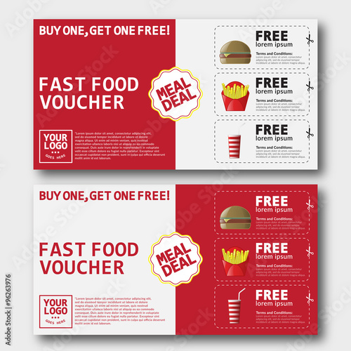Fast Food Voucher Template Stock Image And RoyaltyFree Vector
