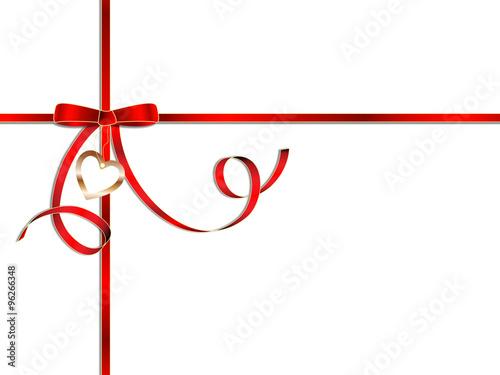 festliche rote geschenkschleife mit herzanh nger stockfotos und lizenzfreie vektoren auf. Black Bedroom Furniture Sets. Home Design Ideas