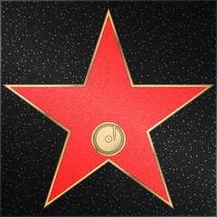 Star, phonograph, record, vector