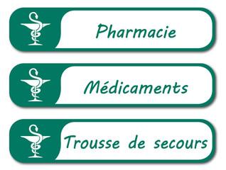 Panneau pharmacie. Médicaments.