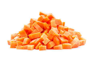 Möhre Karotte gewürfelt