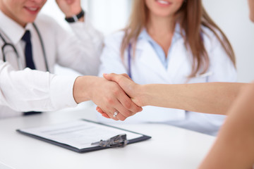 Partnership, trust and medical ethics concept