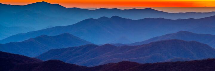 Wall Murals Mountains Smoky mountain sunset