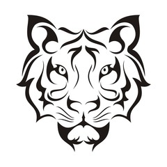 Tiger Face Tribal Template